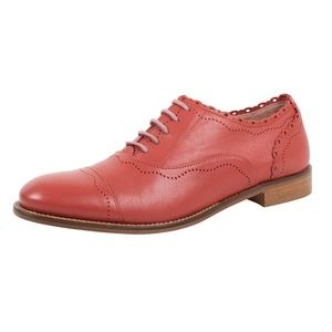 RED VALENTINO  Coral Oxford Shoes Size 7 US 37 EU